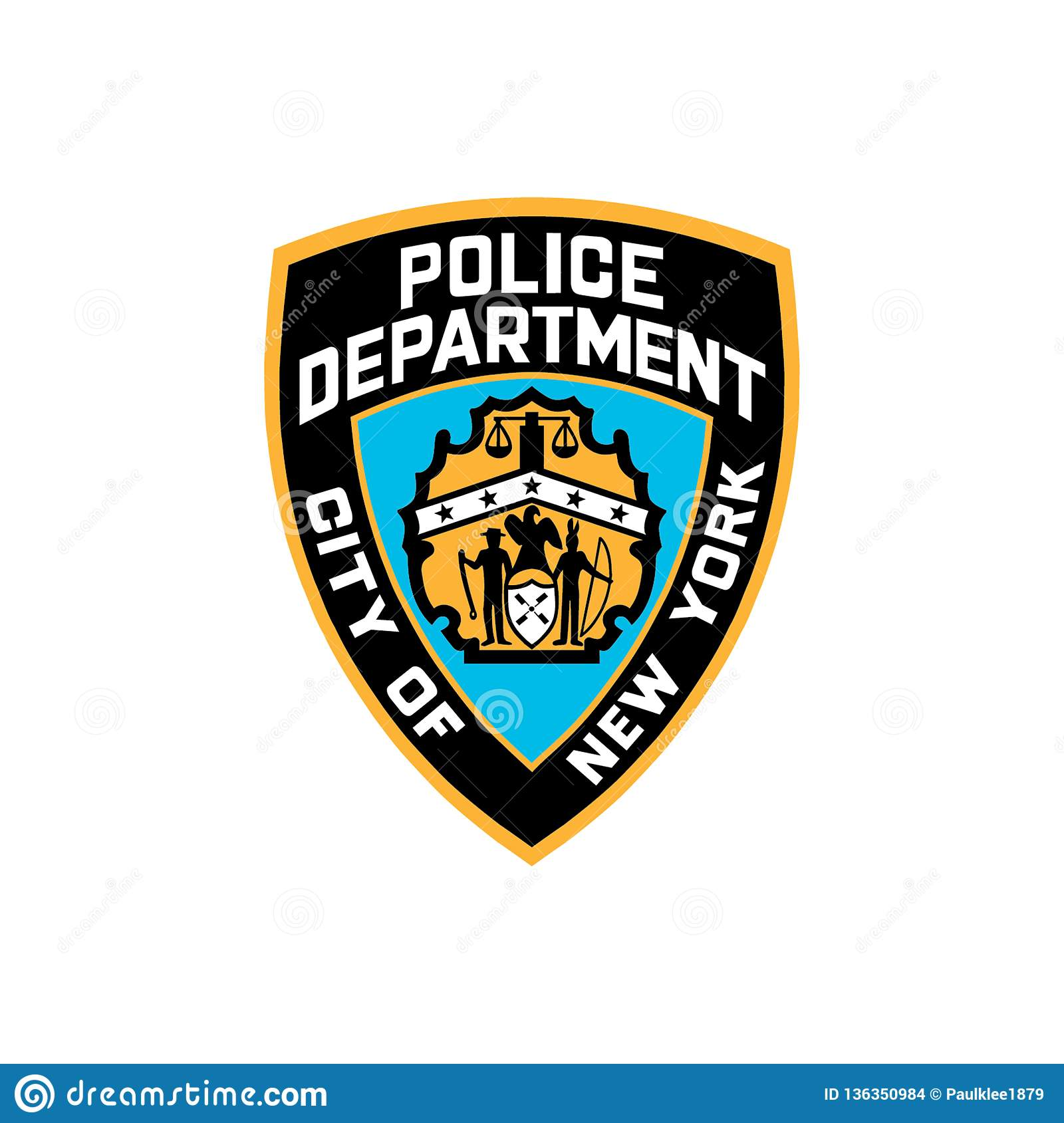 Nypd Logo Editorial Vector Illustration Editorial Stock Image