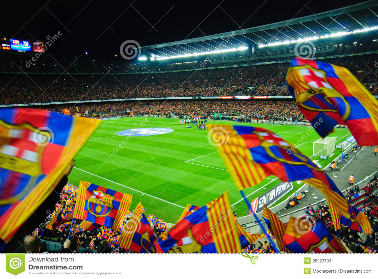 Fc Barcelona Football Match Against Athletico Madrid At