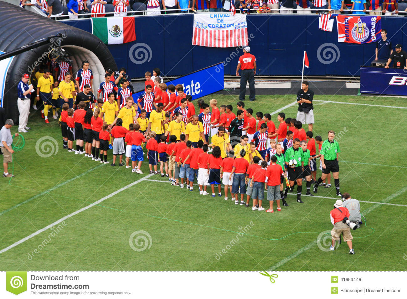 Fc Barcelona Friendly Match In Chicago Editorial Stock Image Image Of Field Sport 41653449