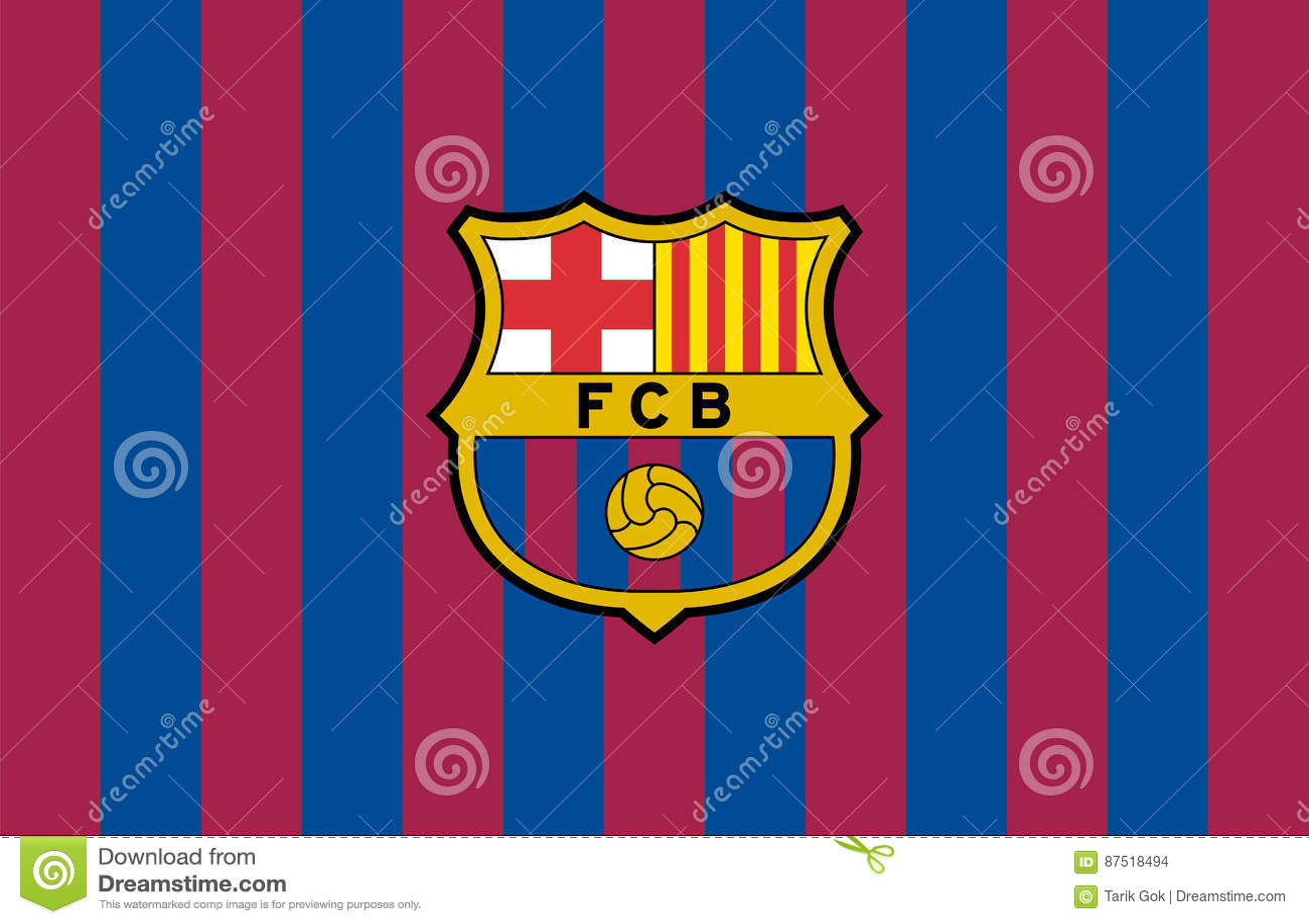 Fc barcelona logo editorial stock image illustration of catalonia fc barcelona logo catalonia team biocorpaavc