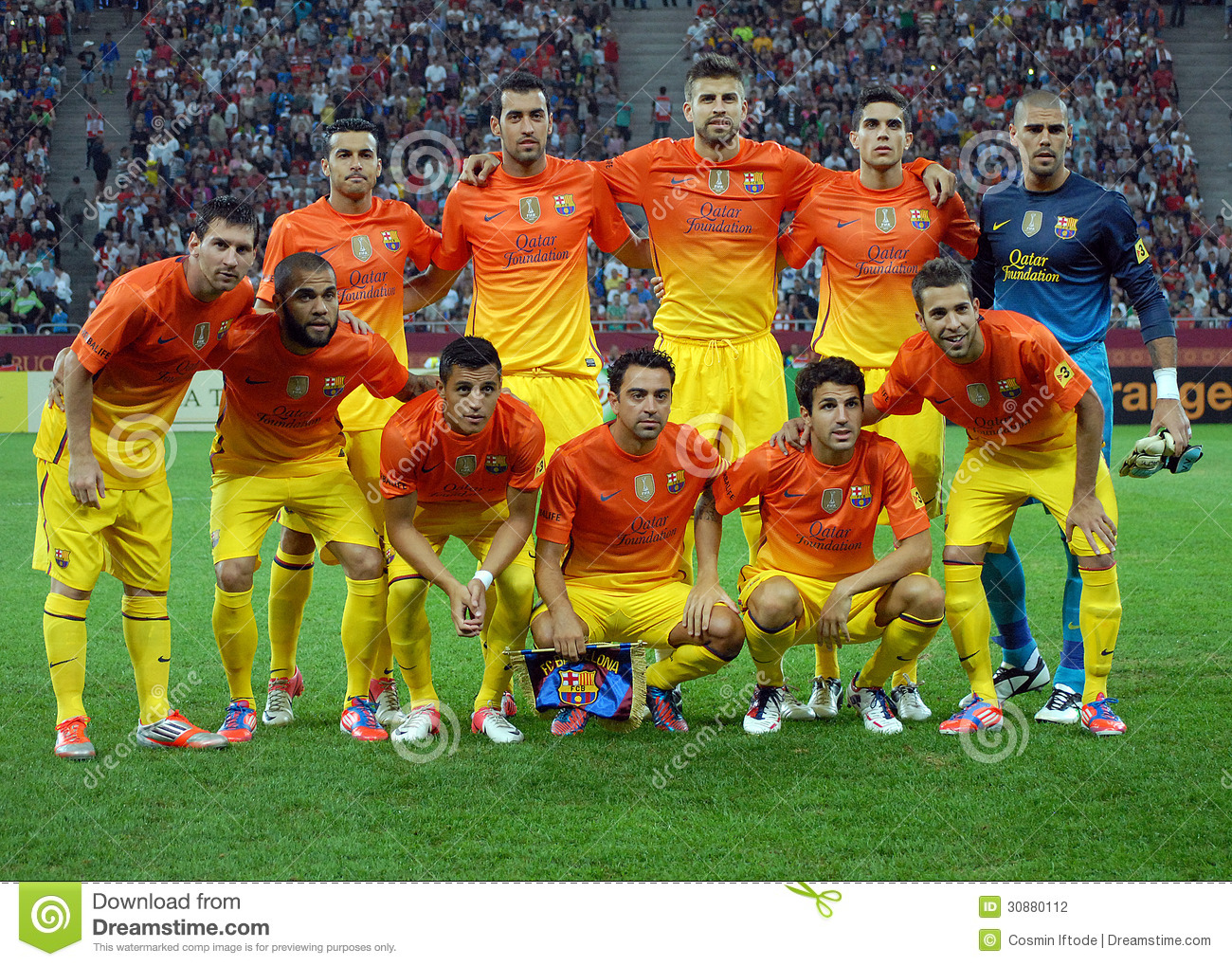 Fc Barcelona Poses Before A Game Editorial Photography Image Of