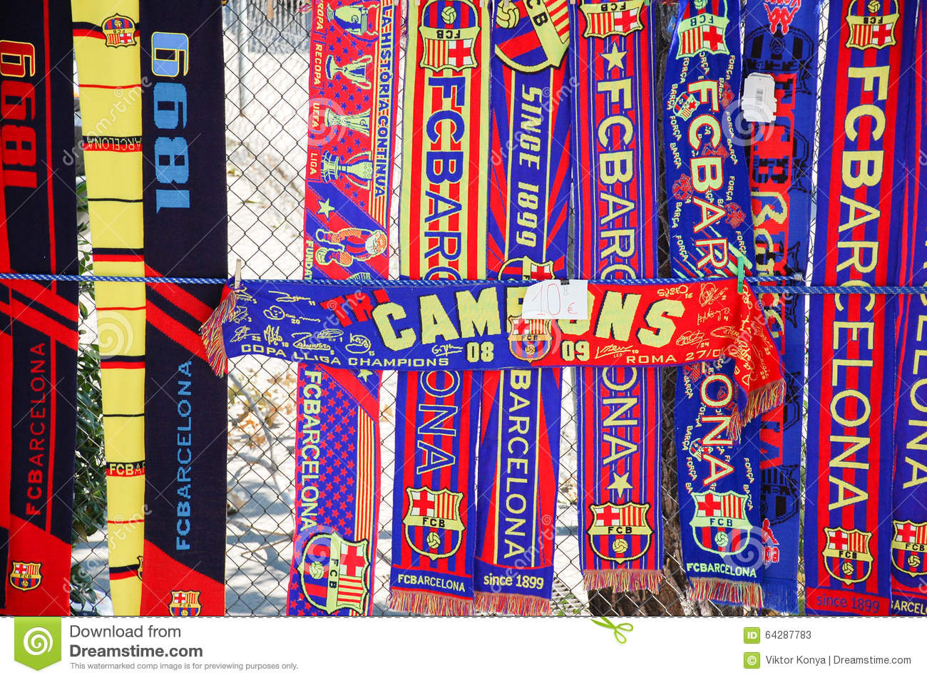 Scarves In The Street Shop Stock Image - Image: 35972551
