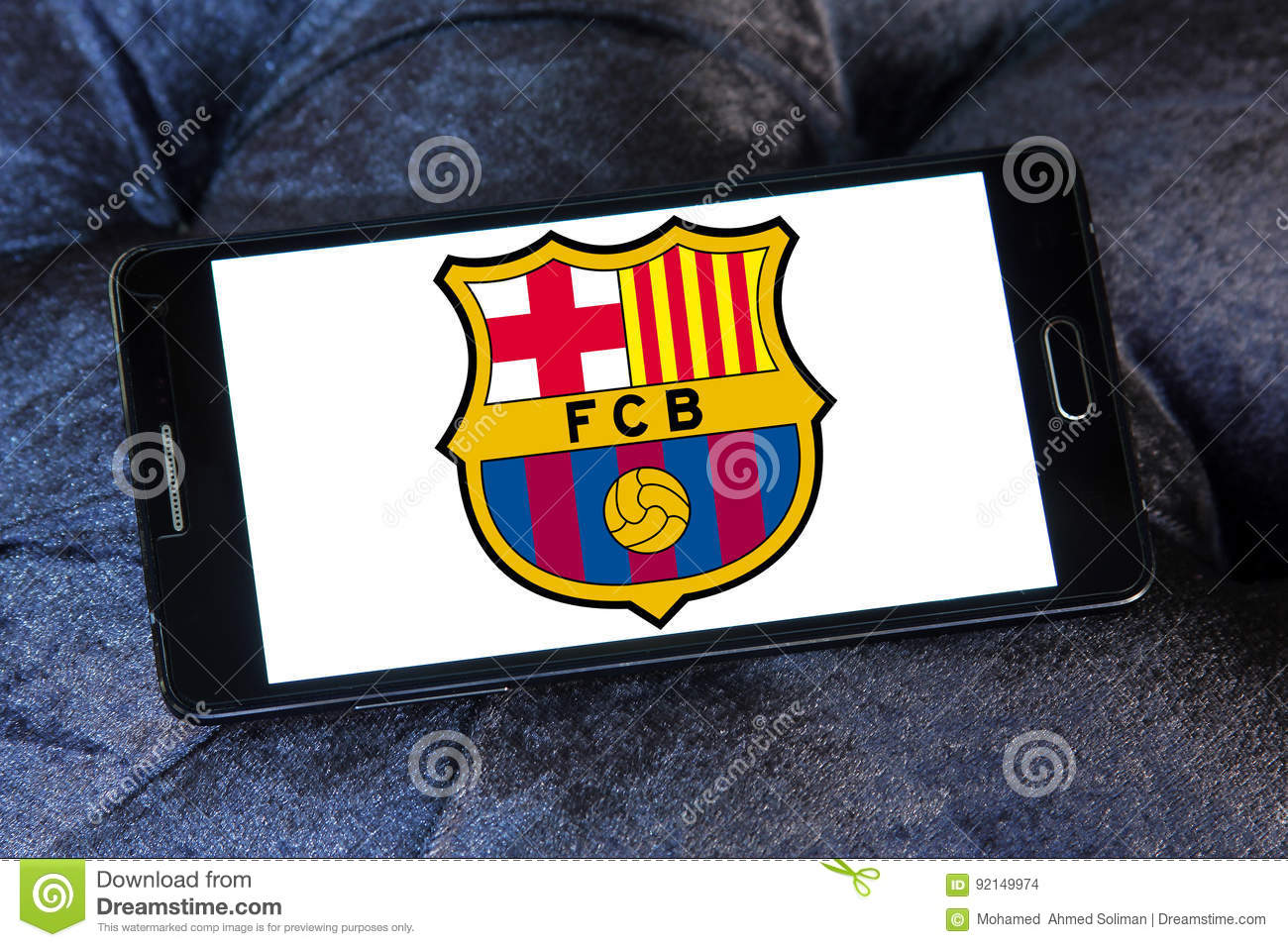 Fc Barcelona Soccer Club Logo Editorial Stock Image Image Of Icon