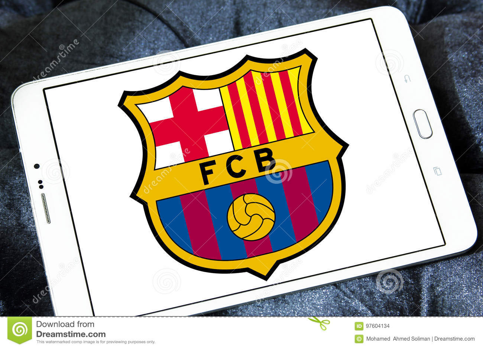 Fc Barcelona Soccer Club Logo Editorial Stock Image Image Of