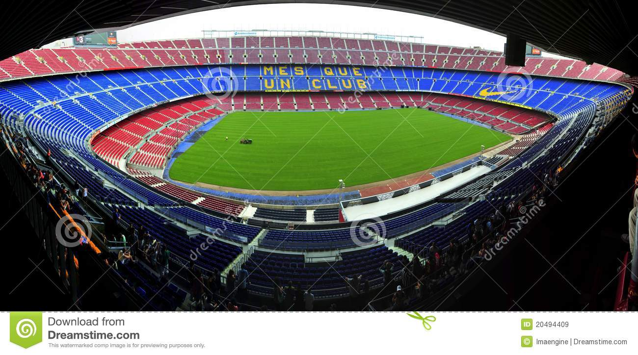 FC Barcelona Stadium - Catalunia Nou Camp Editorial Stock Image ...