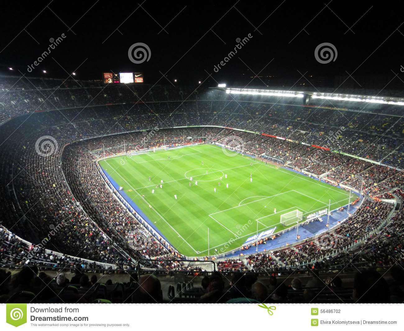 fc barcelona stadium crowded  spain editorial photography
