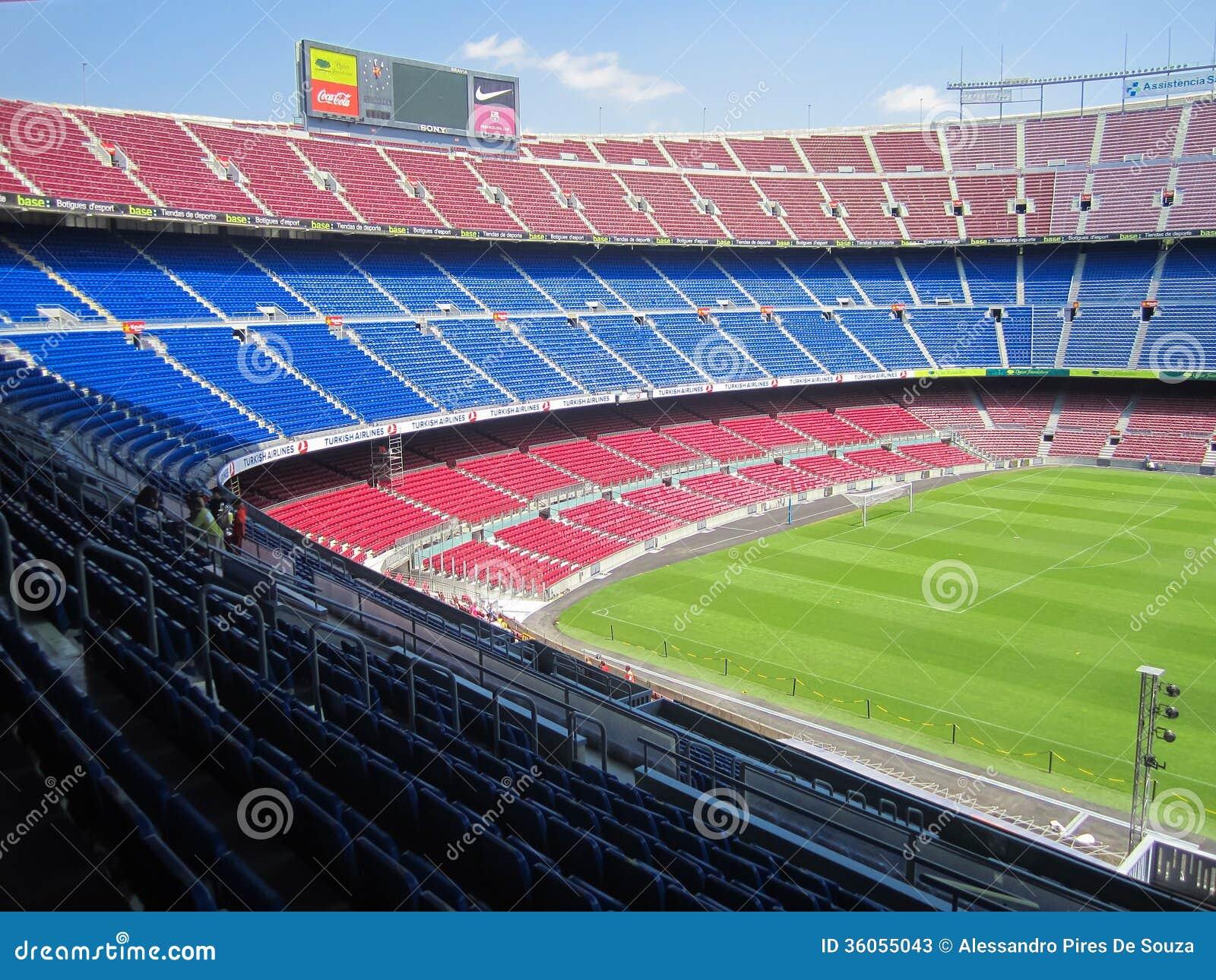 FC Barcelona Stadium -... Summer Camp Vector