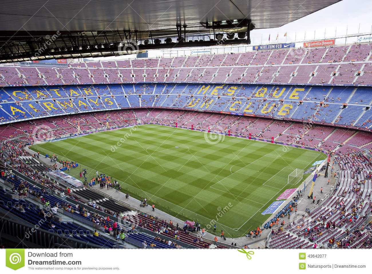 fc barcelona stadium editorial photography  image of field