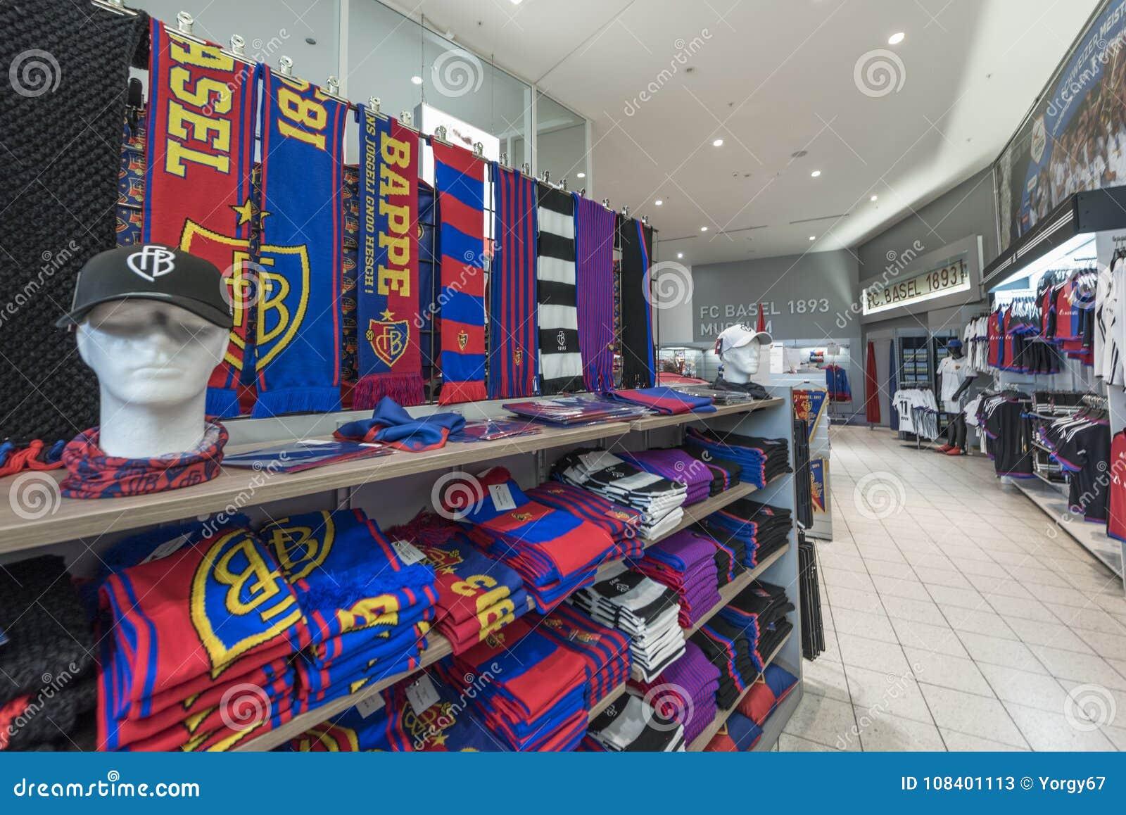 In Fc Basel Fan Shop Editorial Stock Photo Image Of Sale 108401113