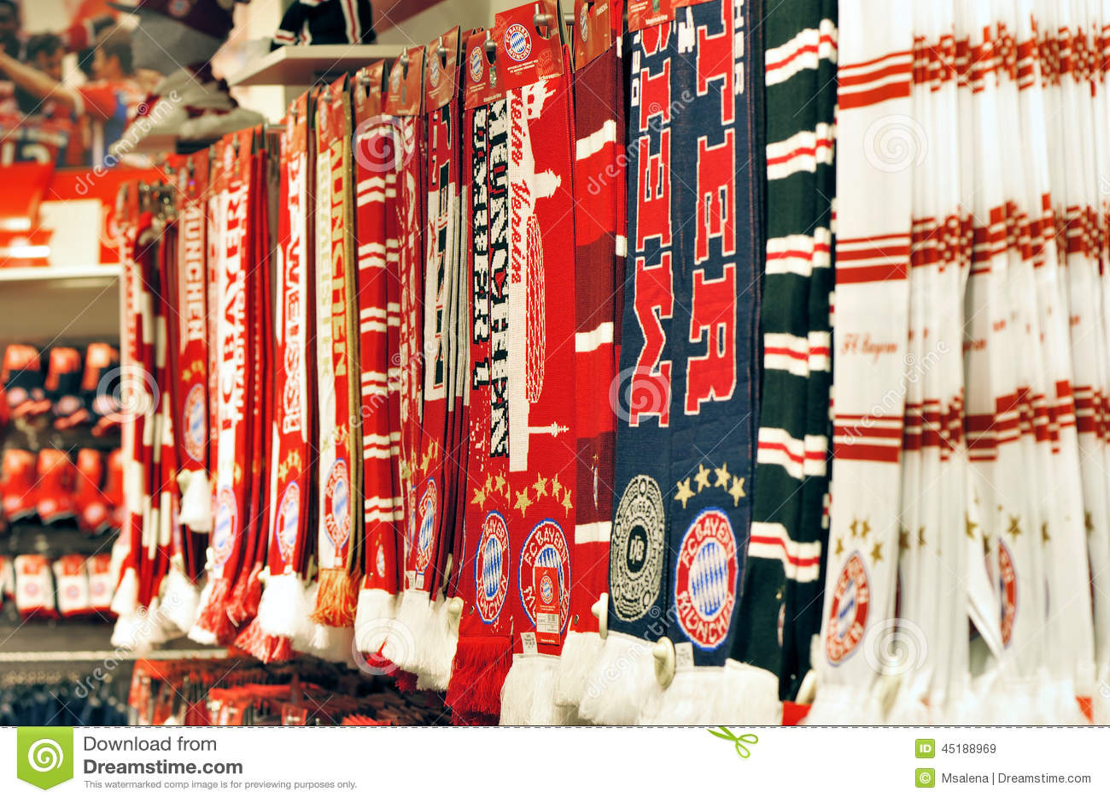 the latest 08422 04c61 FC Bayern Megastore editorial stock image. Image of football ...