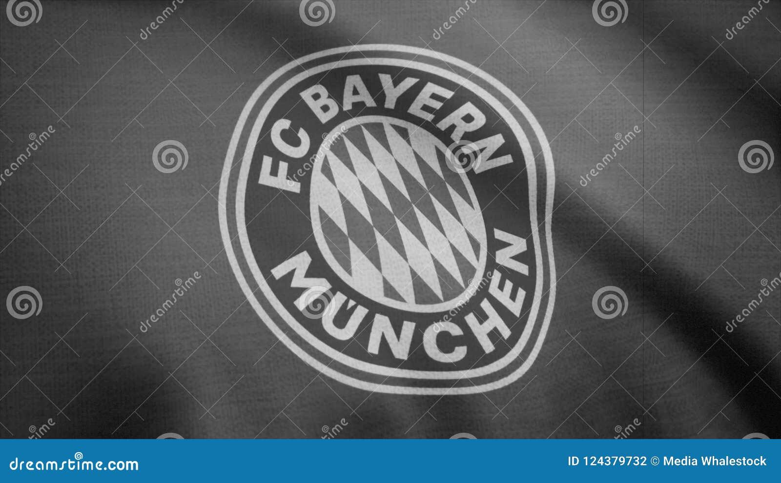 7d2e3461678 FC Bayern Munich Flag Is Waving