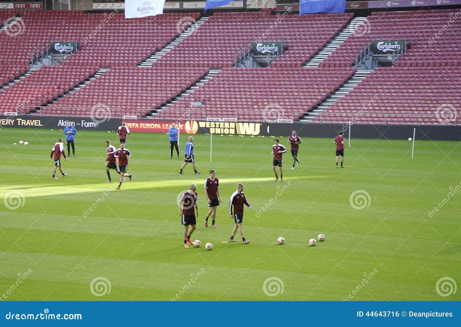 Fc Copenhagen Football Team Mixed Zone Editorial Photo Image Of