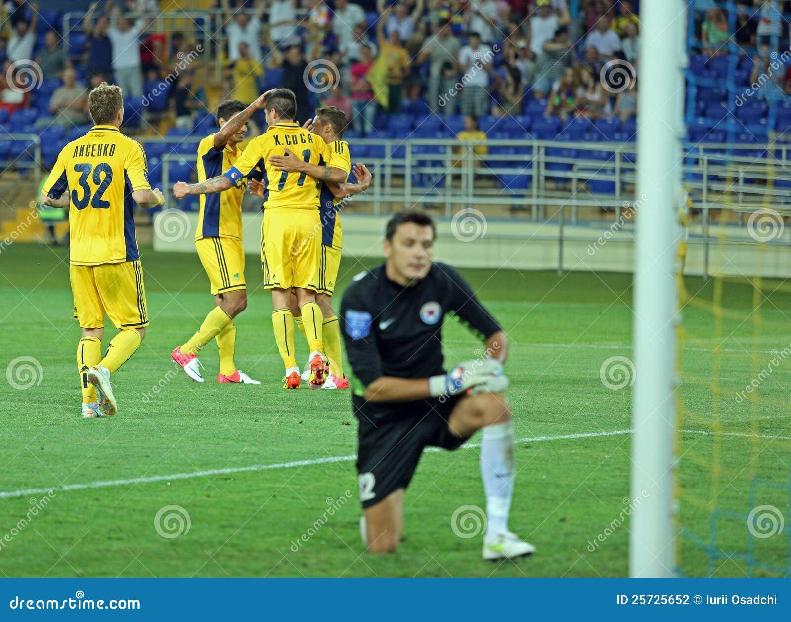 FC Metalist vs FC Illichivets soccer match