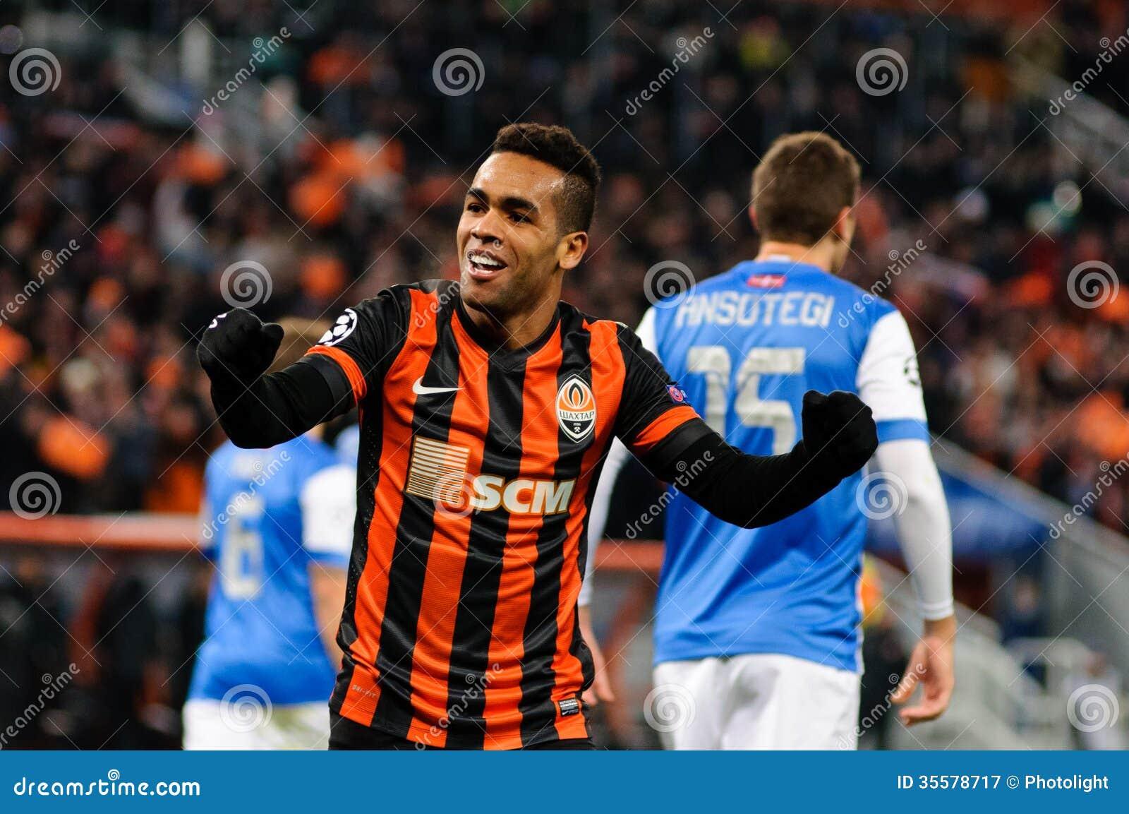 FC Shakhtar Donetsk Player Alex Teixeira Editorial graphy