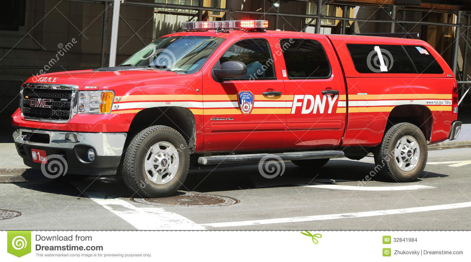 Fdny Battalion 1 Chief Suv In Lower Manhattan Editorial