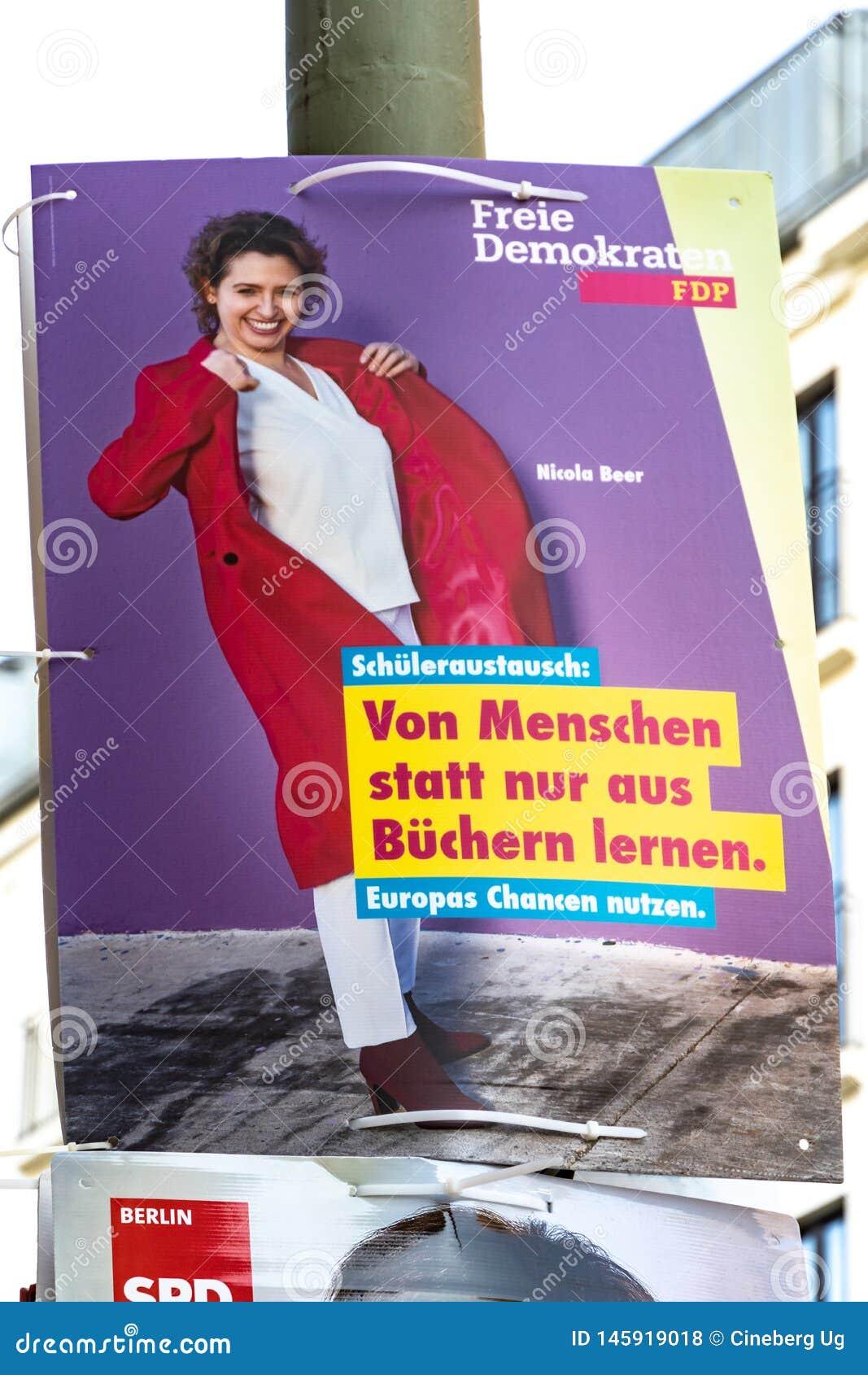 FDP-politisk kampanjaffisch
