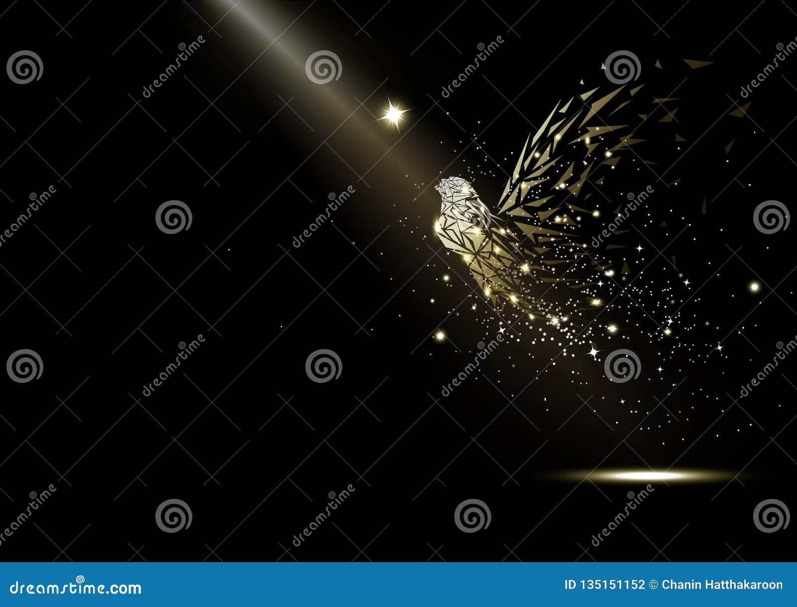 Fe, glödande fantasi för stjärnor och mirakel, gnistrande i utrymmet, lyxiga ljusa strålar, sagasamling på svart abstrakt begrepp