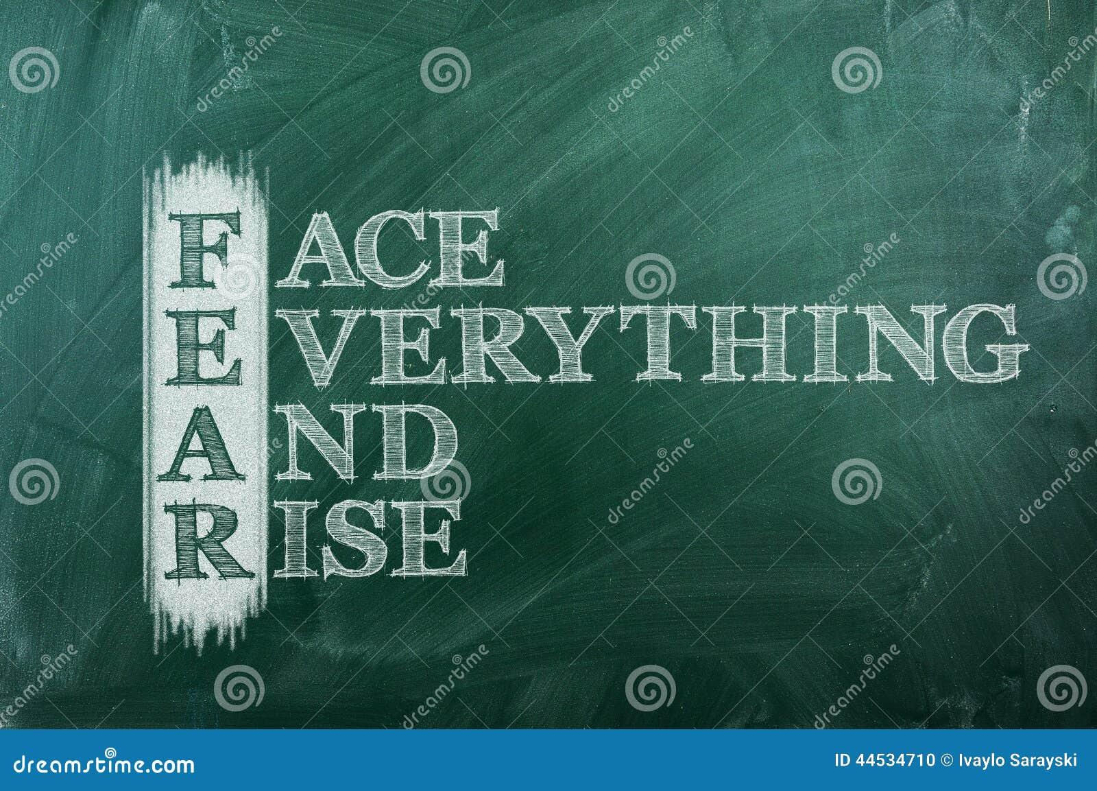 fear acronym positive stock photo  image of rise  acronym
