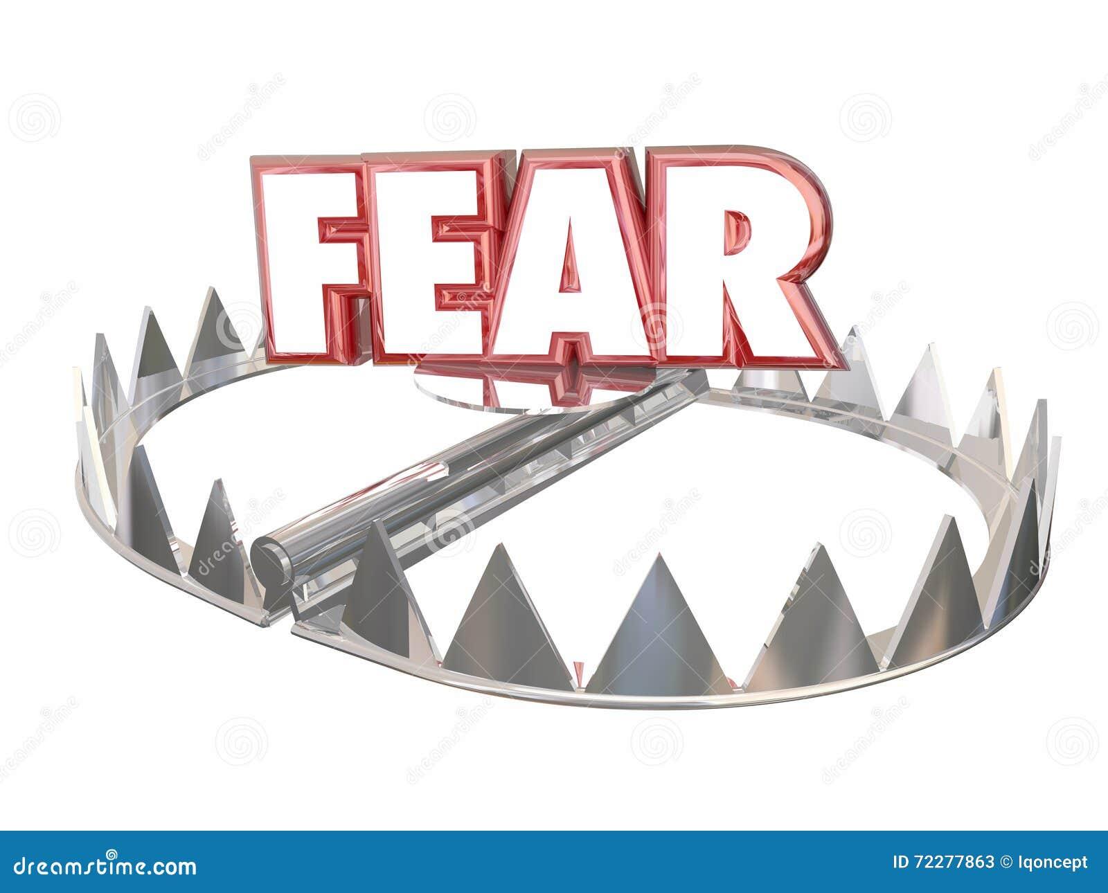 Fear Afraid Danger Scared Warning Bear Trap Word