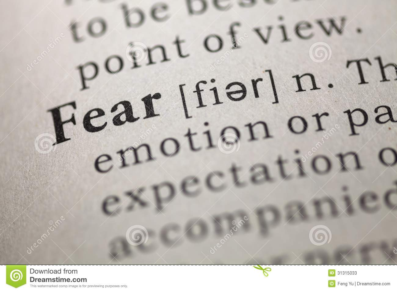 definition paper living in fear What does it mean to fear god johannah reardon page 1 of 1 i often hear people explain the fear of the lord as a mere respect or reverence  fear-free living it's natural to fear that we .