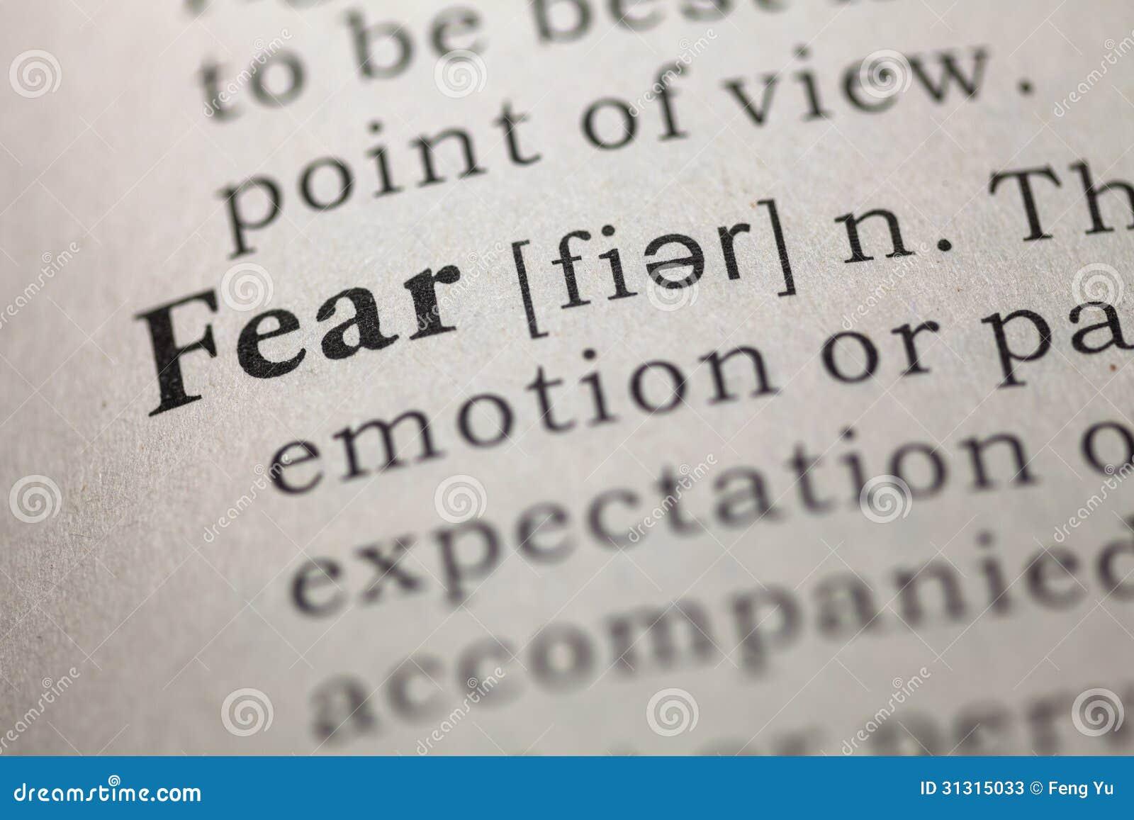 Define the term phobia