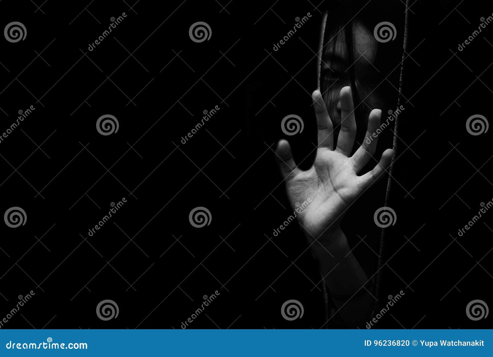 Playful black little girl hiding in closet · Free Stock Photo