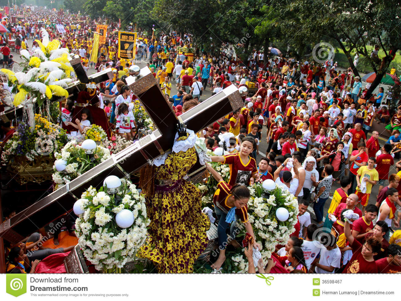 Royalty Free Stock Photography Feast Black Nazareno Philippines Metro ...