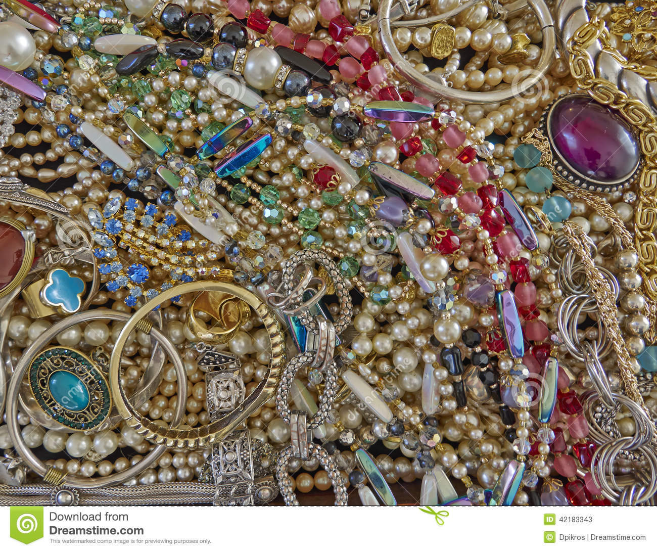 a feast of shiny jewelry stock photo image 42183343