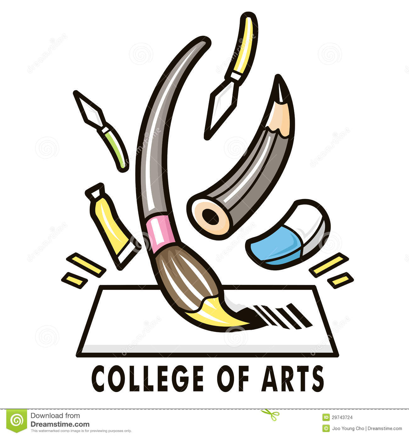Character Design College Major : The feast of a variety art tools college fine arts