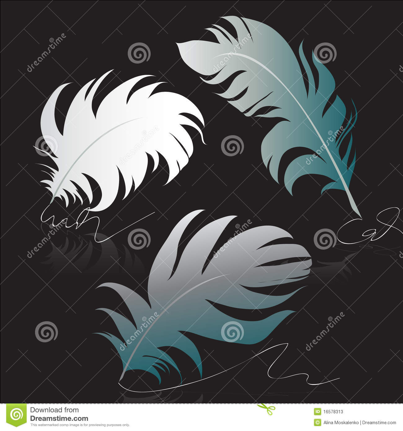Feather For Calligraphy Stock Photos Image 16578313