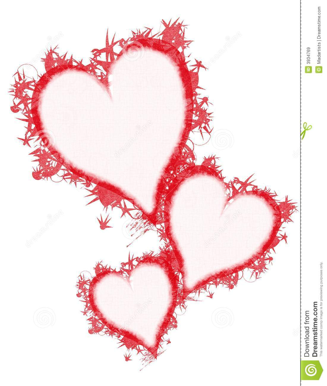 Feather Grunge Red Hearts Clip Art Royalty Free Stock ...