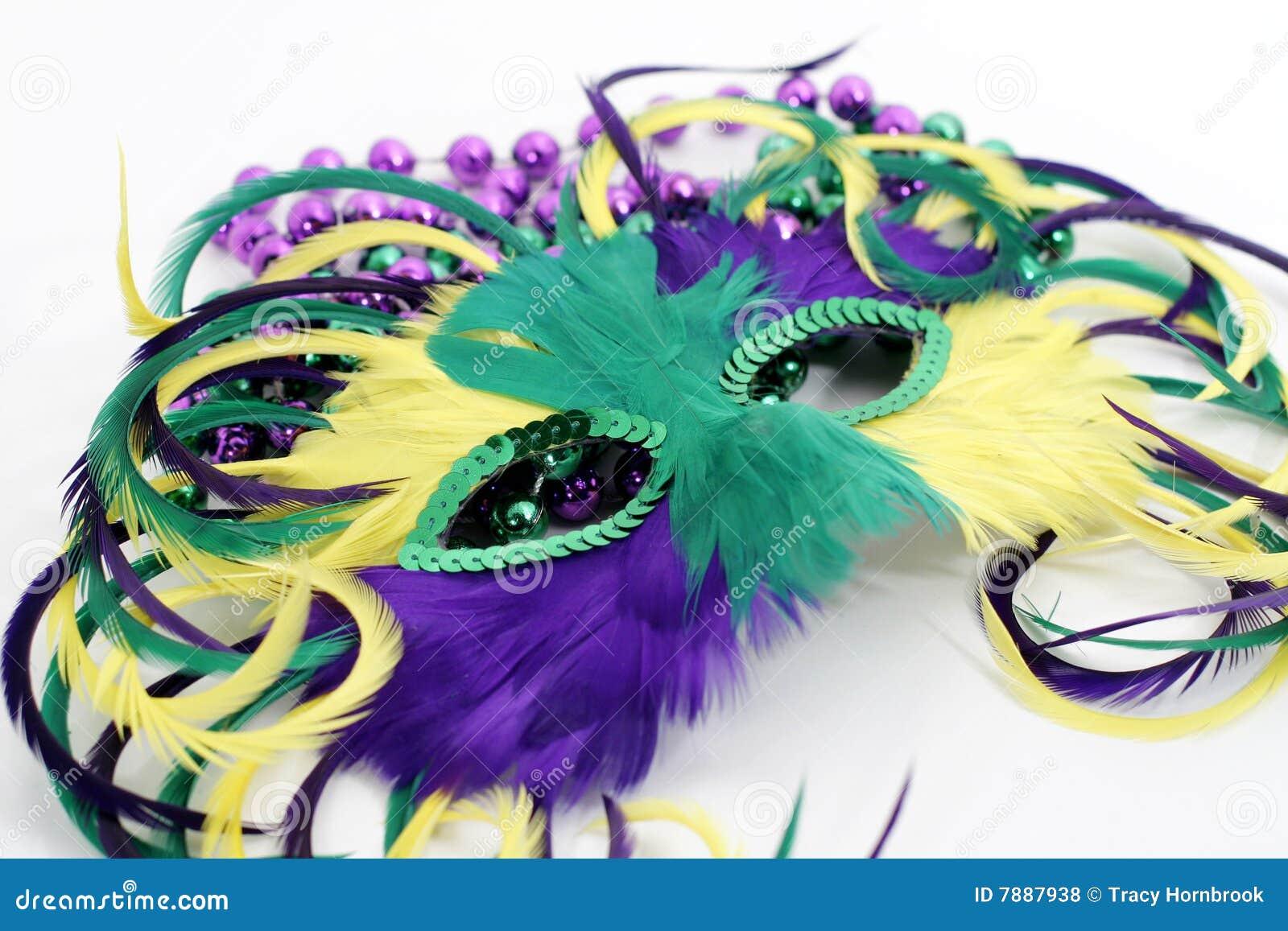 Mardi Gras Beads Clip Art Free Feather mardi gras mask with