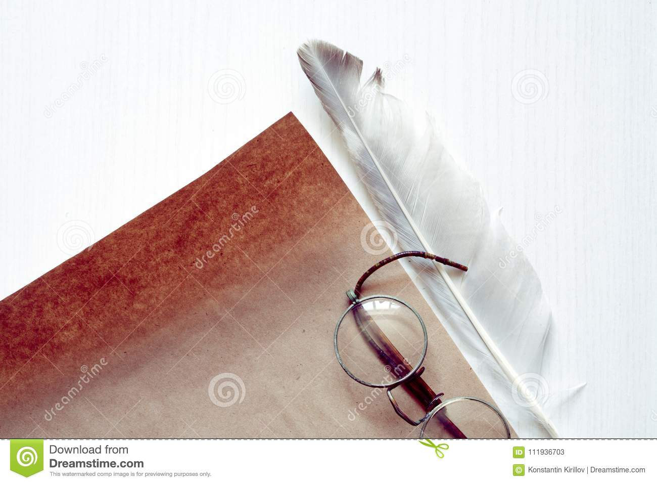 Feather Near Paper