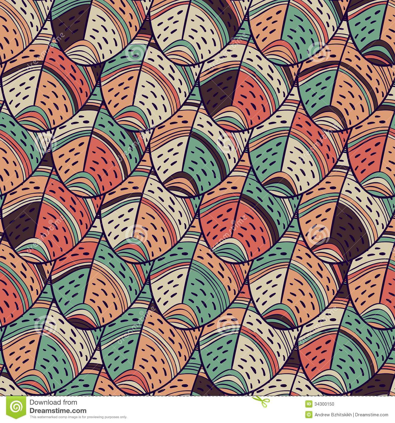 Feathers Seamless Pattern Stock Vector Illustration Of Flake