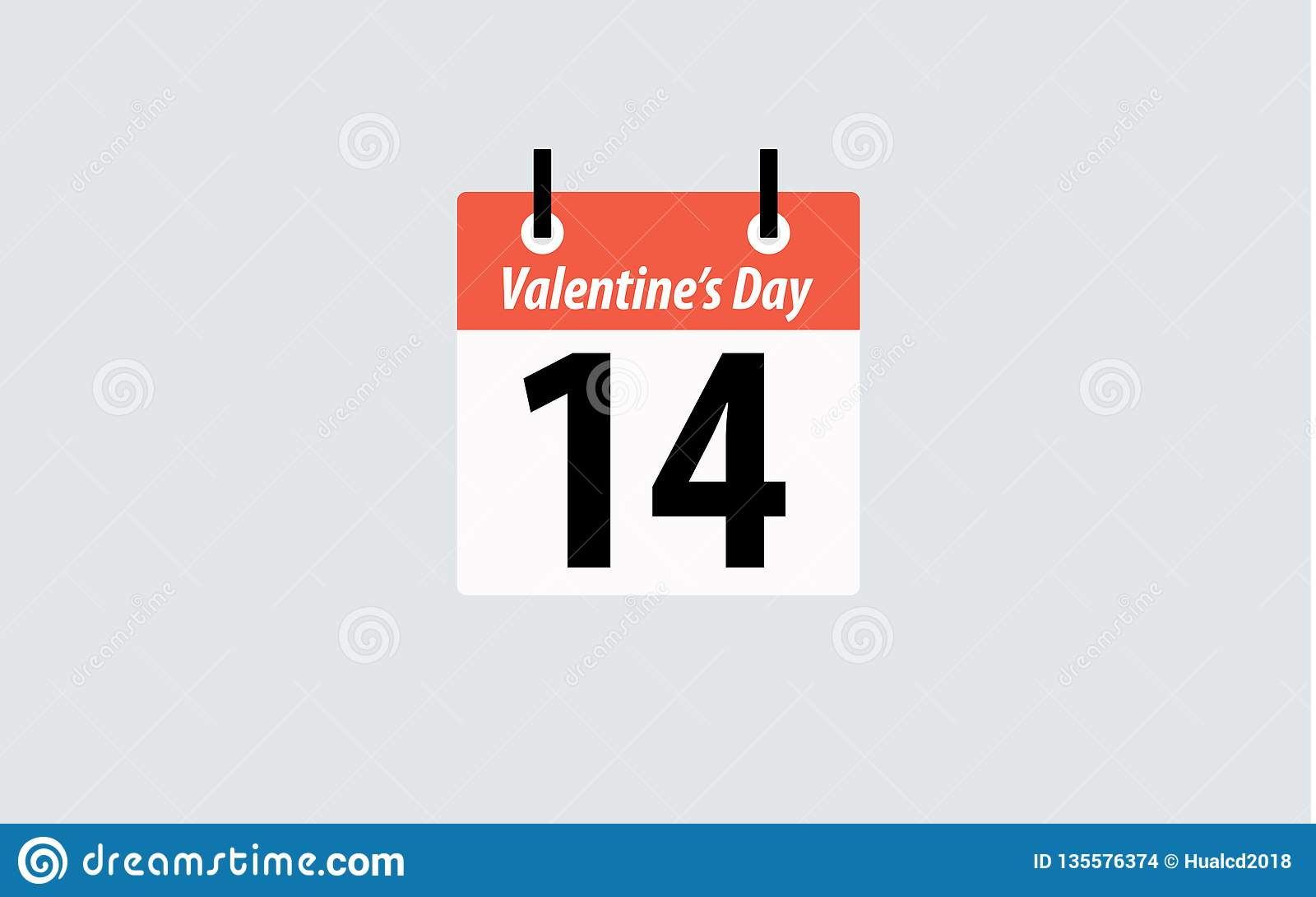 Calendario Giorno.14 Febbraio Calendario Della Bandiera Di Paese Di Giorno Di