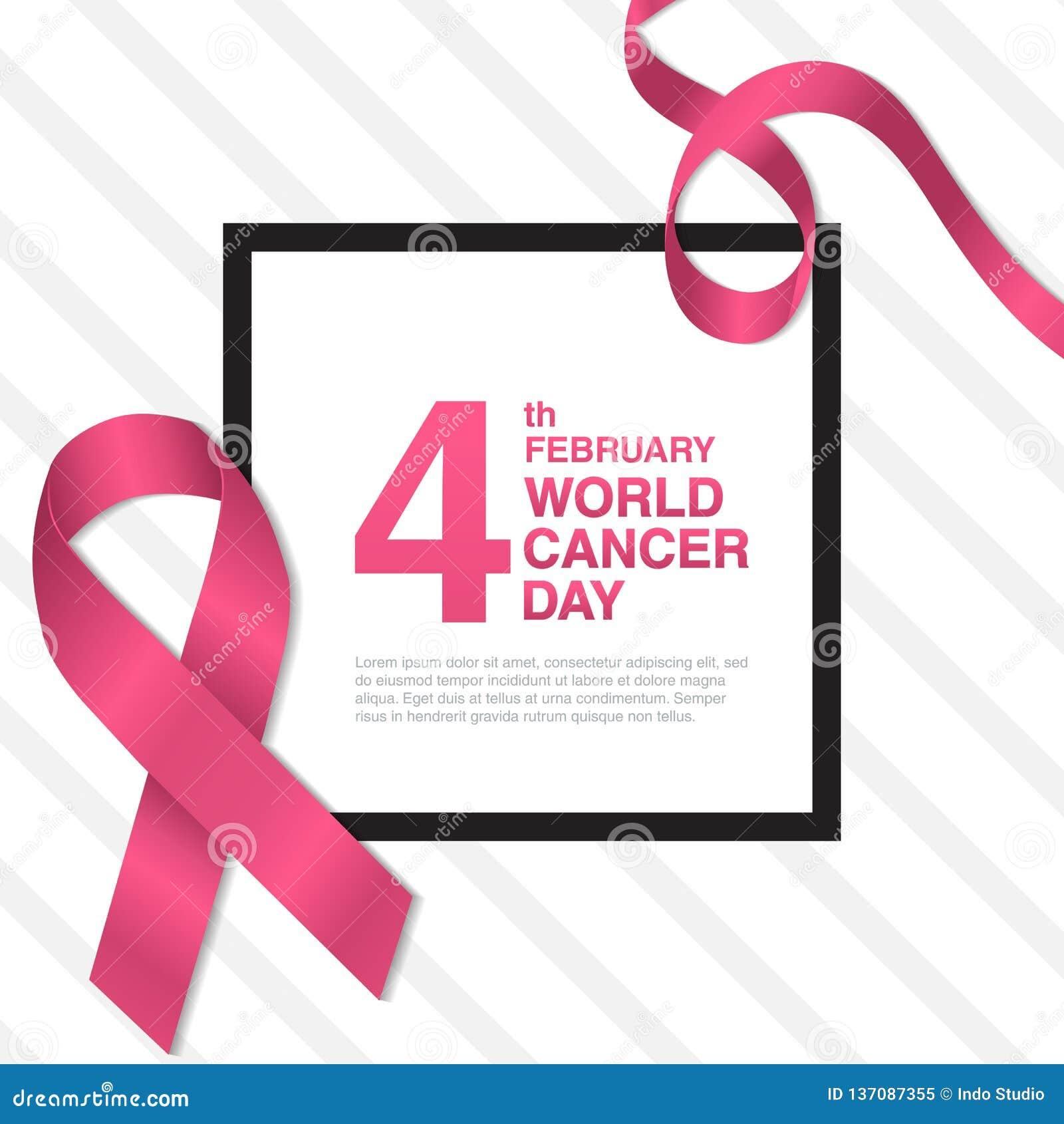 4 febbraio concetto di giorno del Cancro del mondo
