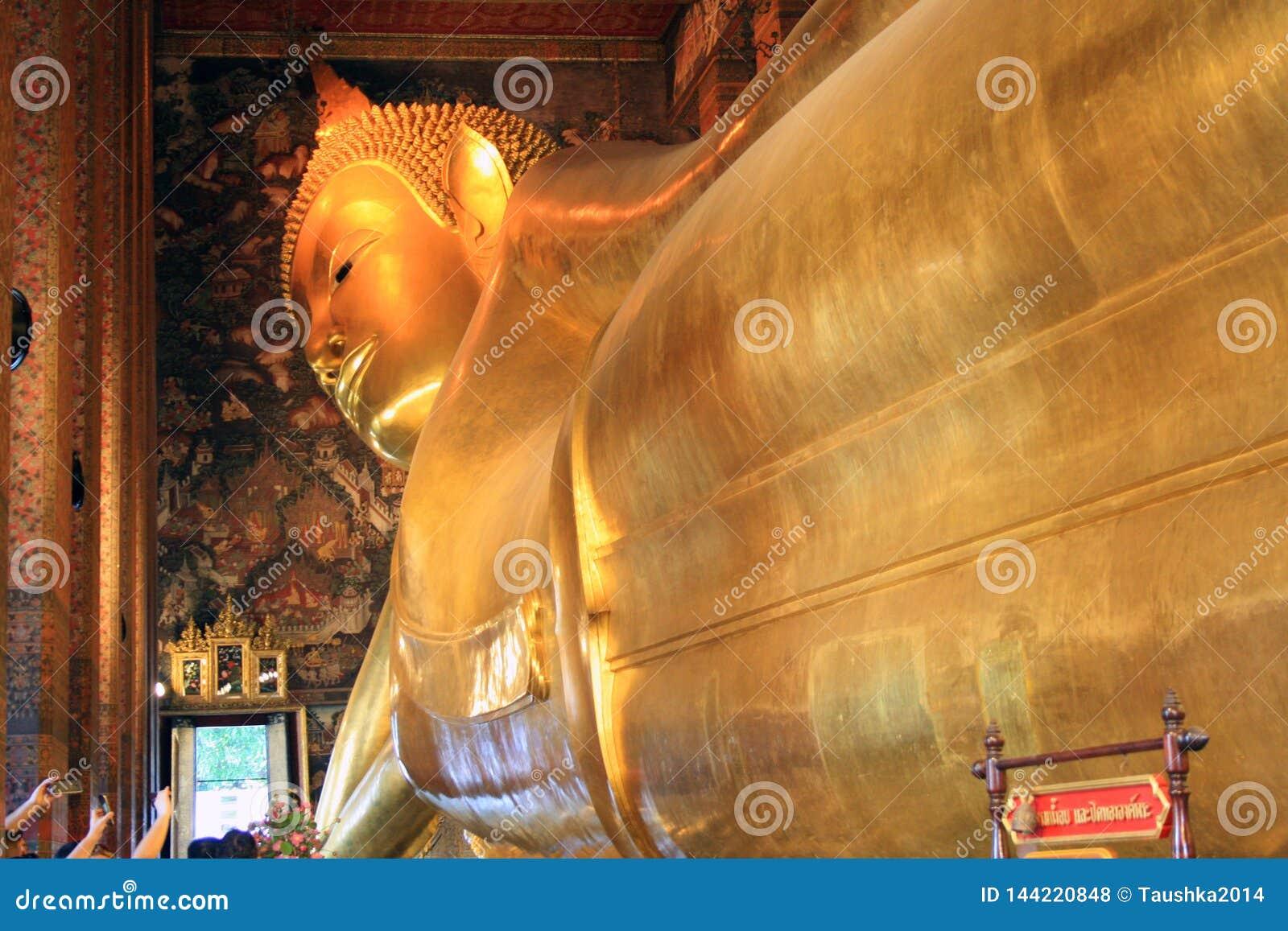07 Februari 2019, Bangkok, Thailand, Wat Pho tempelkomplex Tempel av vilaBuddha