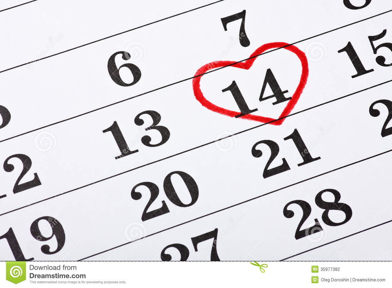 february 14 on the calendar valentine 39 s day red heart. Black Bedroom Furniture Sets. Home Design Ideas