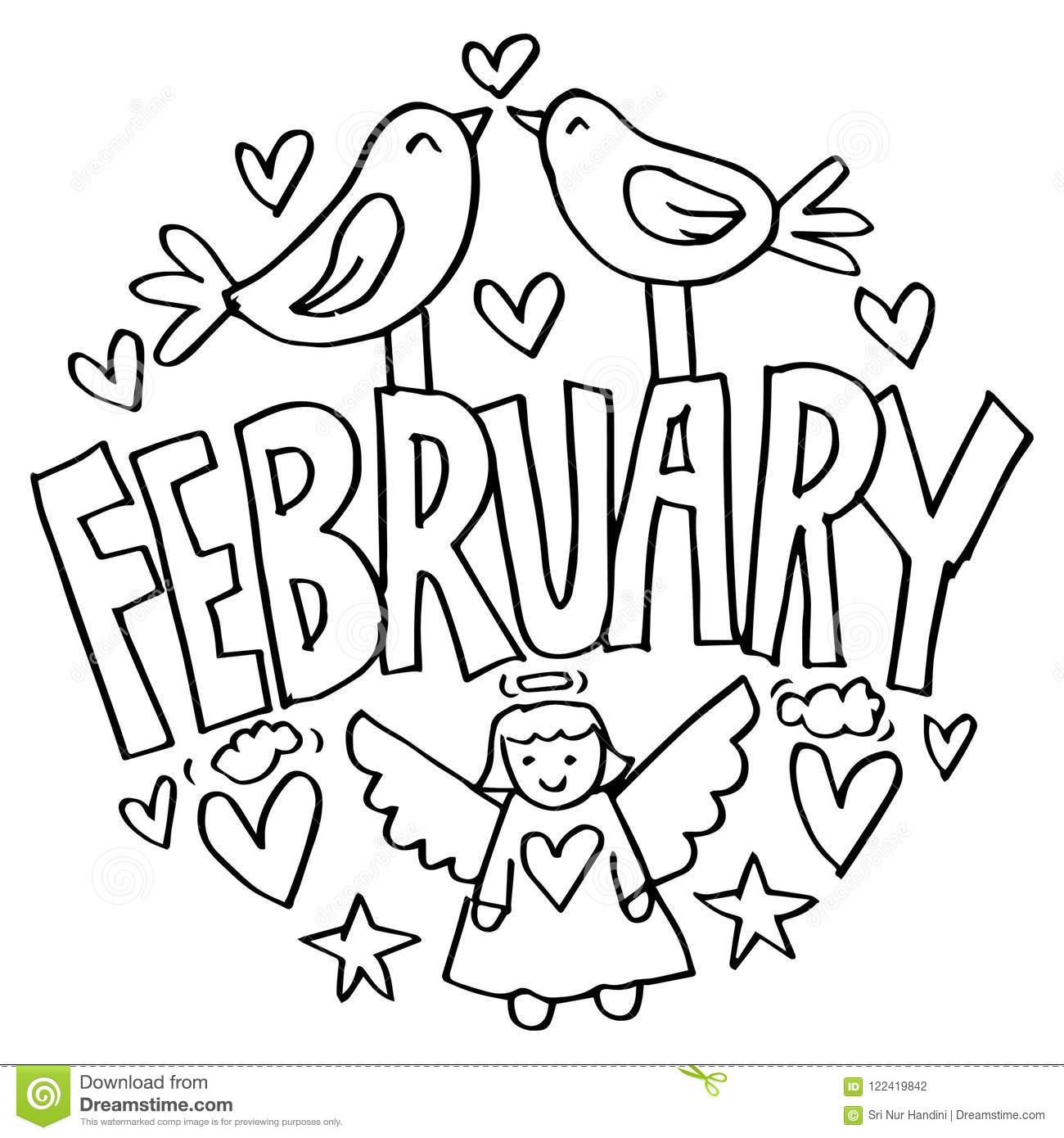 Boston chefs valentines day printable coloring pages ~ February Kids Stock Illustrations – 994 February Kids ...