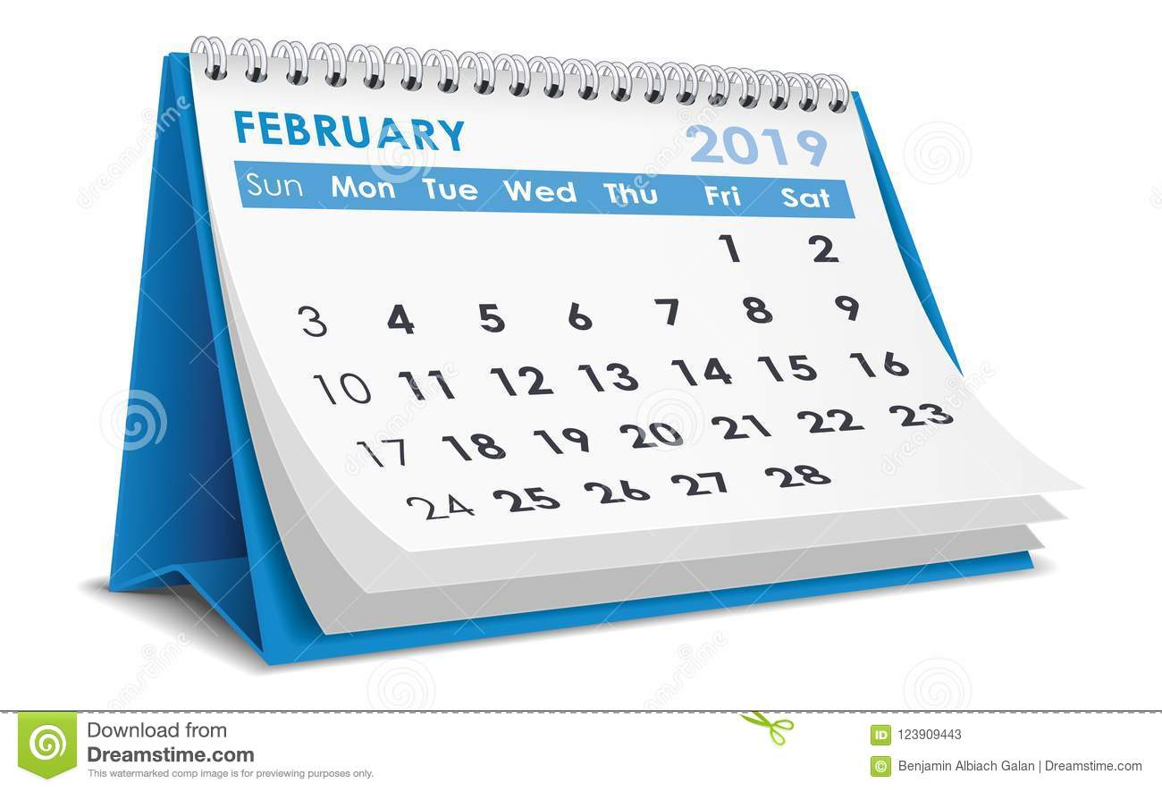 February 2019 Calendar Stock Vector Illustration Of Schedule