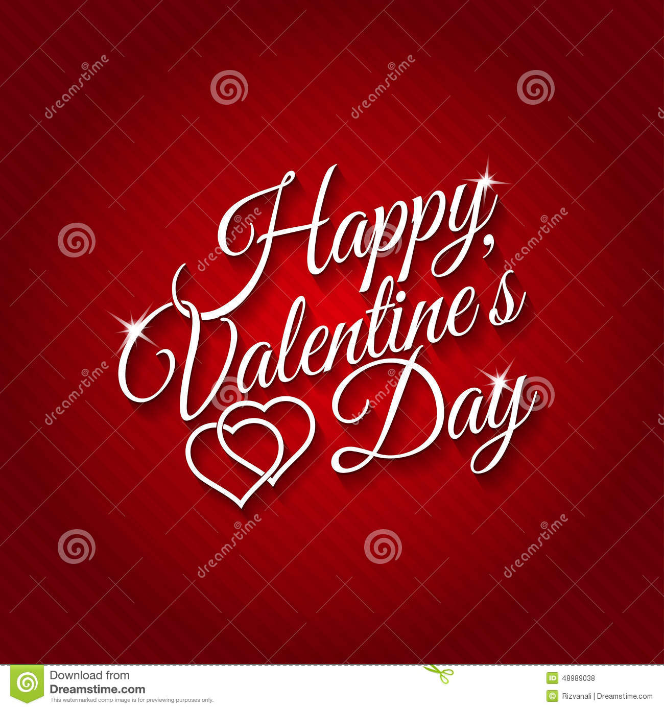 February 14 Happy Valentines Day Card Stock Vector Illustration Of