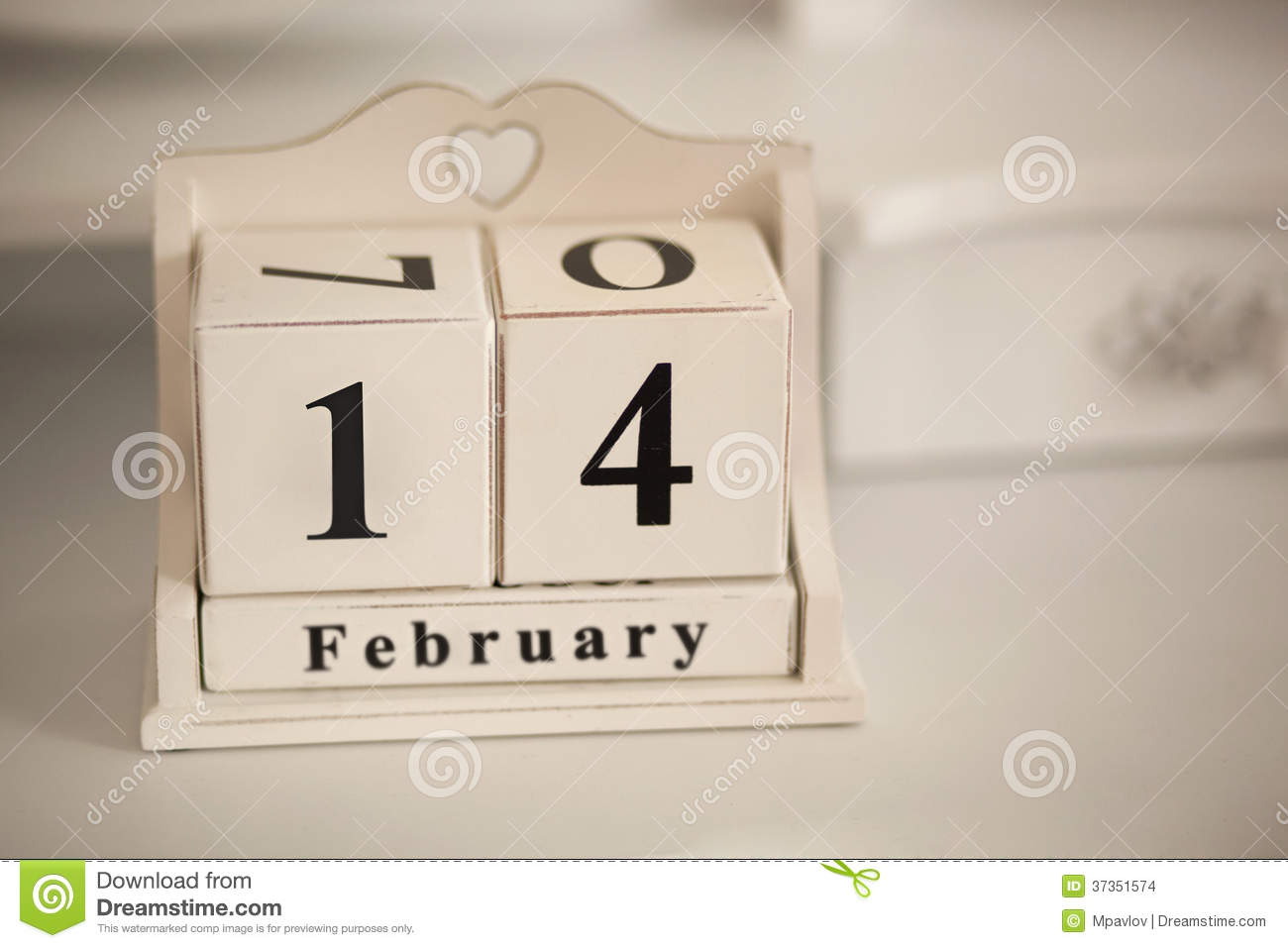 February 14 Vintage Calendar Stock Images - Image: 37351574