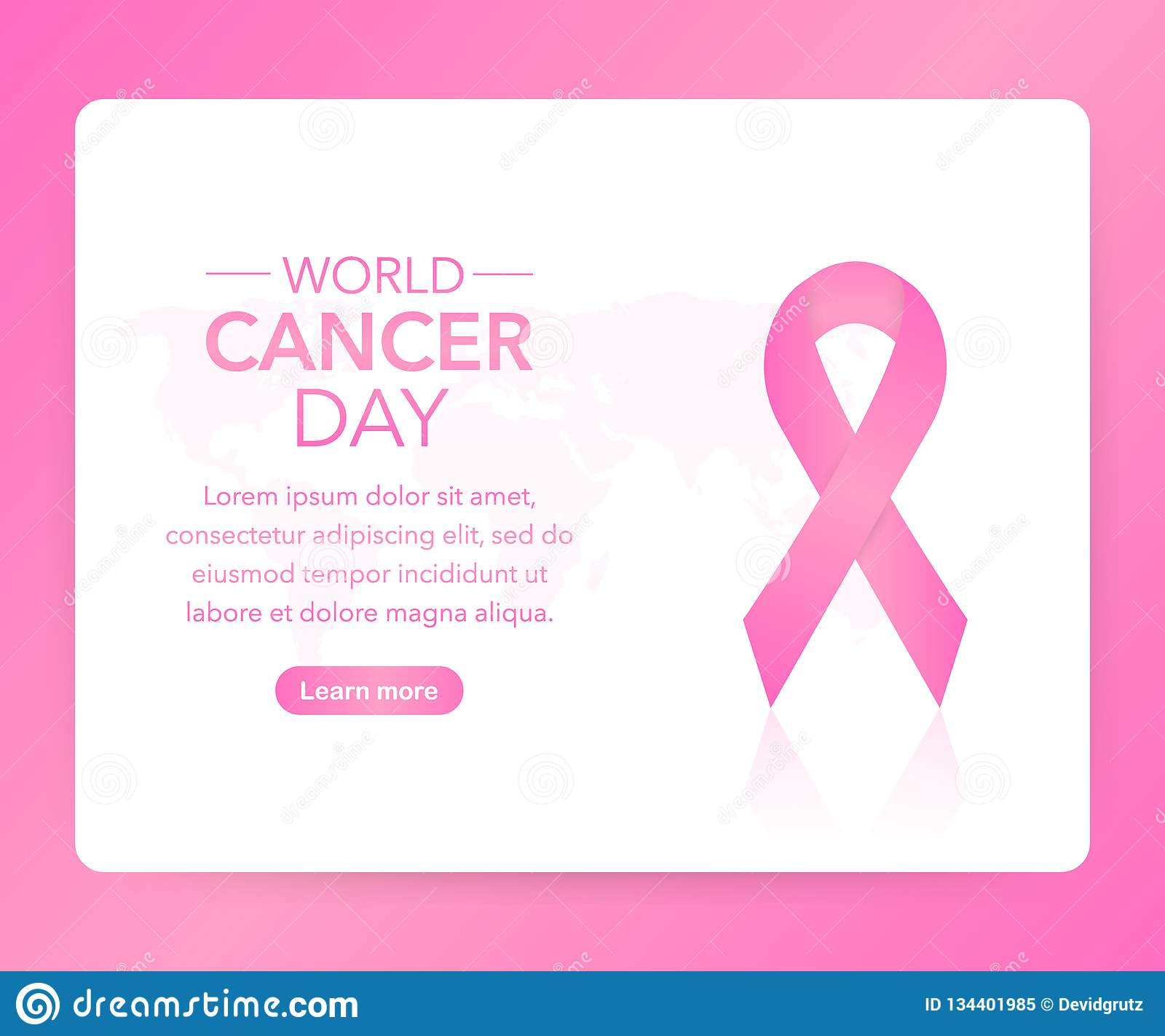 984adb6f490 4 February World Cancer Awareness Month Campaign Background with paper  Magenta ribbon symbol. Vector illustration
