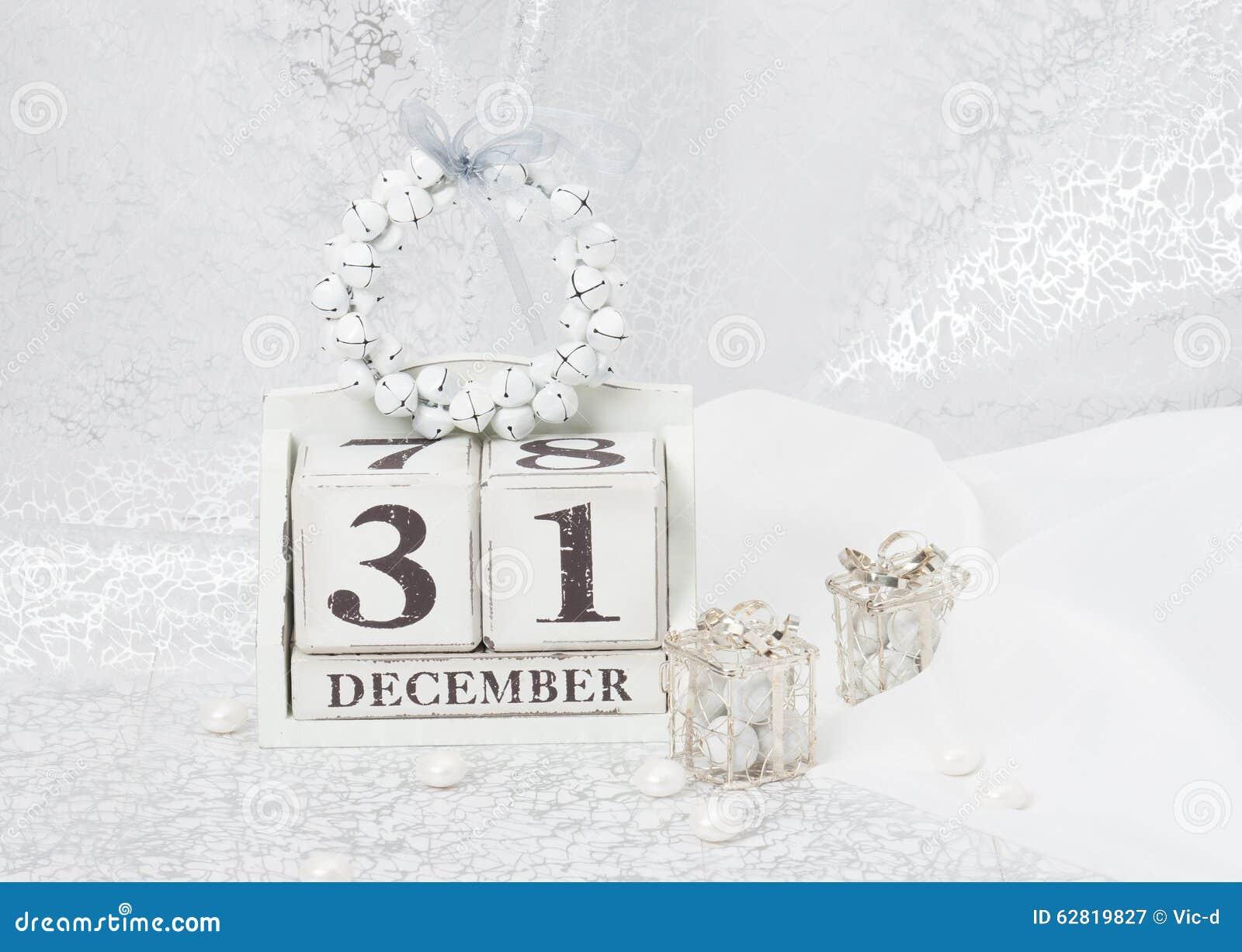 Fecha del a o nuevo en calendario 31 de diciembre navidad for Decoracion 31 de diciembre