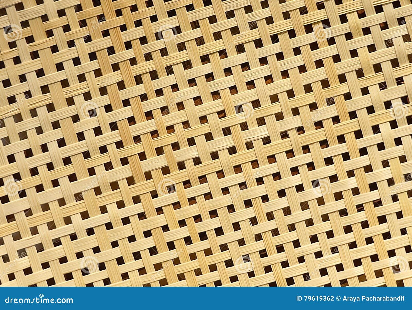 Fechado acima da textura do Rattan do teste padrão de Weave de cesta