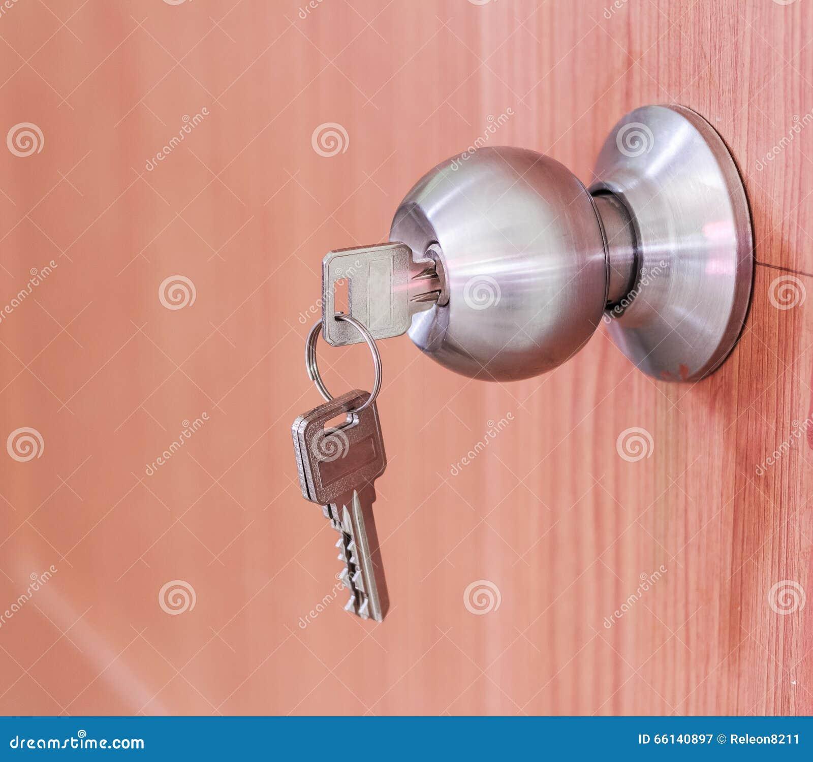Fechamentos do botão de porta com chaves