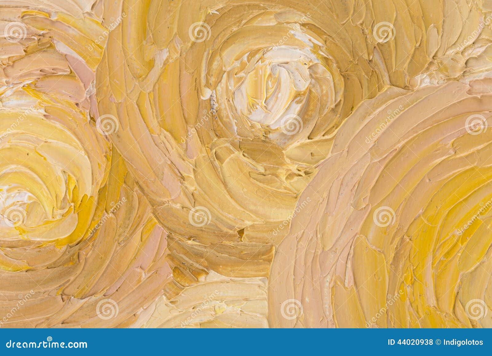 Feche acima da pintura a óleo abstrata bonita