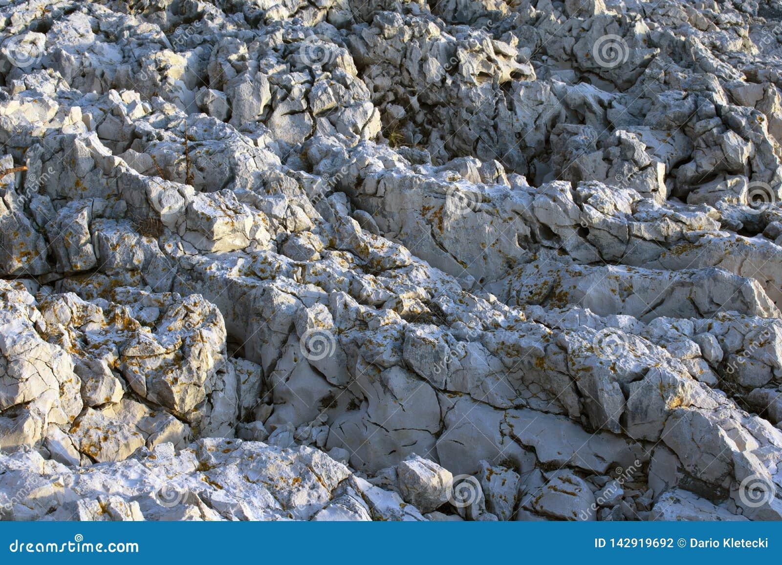 Feche acima das rochas selvagens