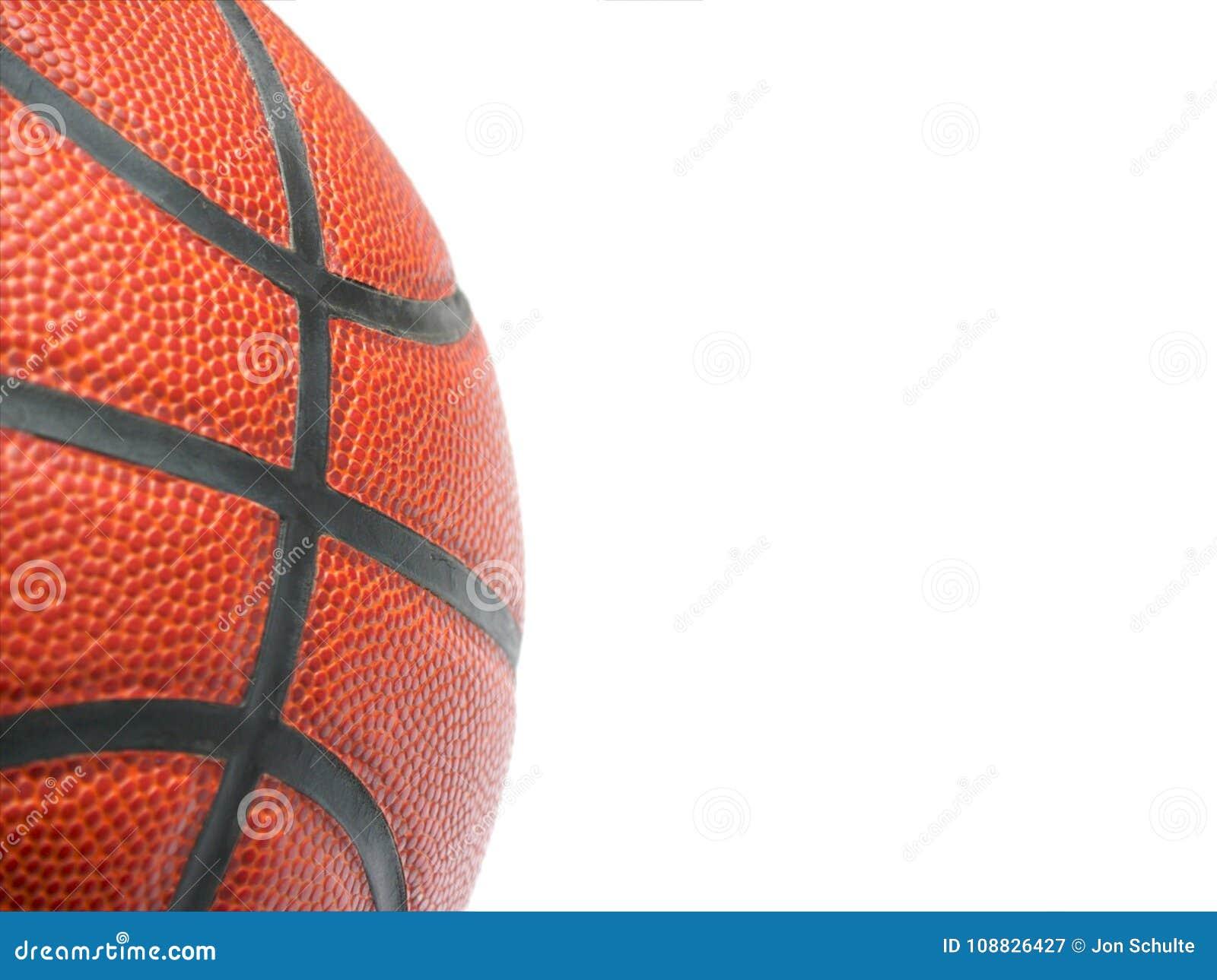 Feche acima de um basquetebol