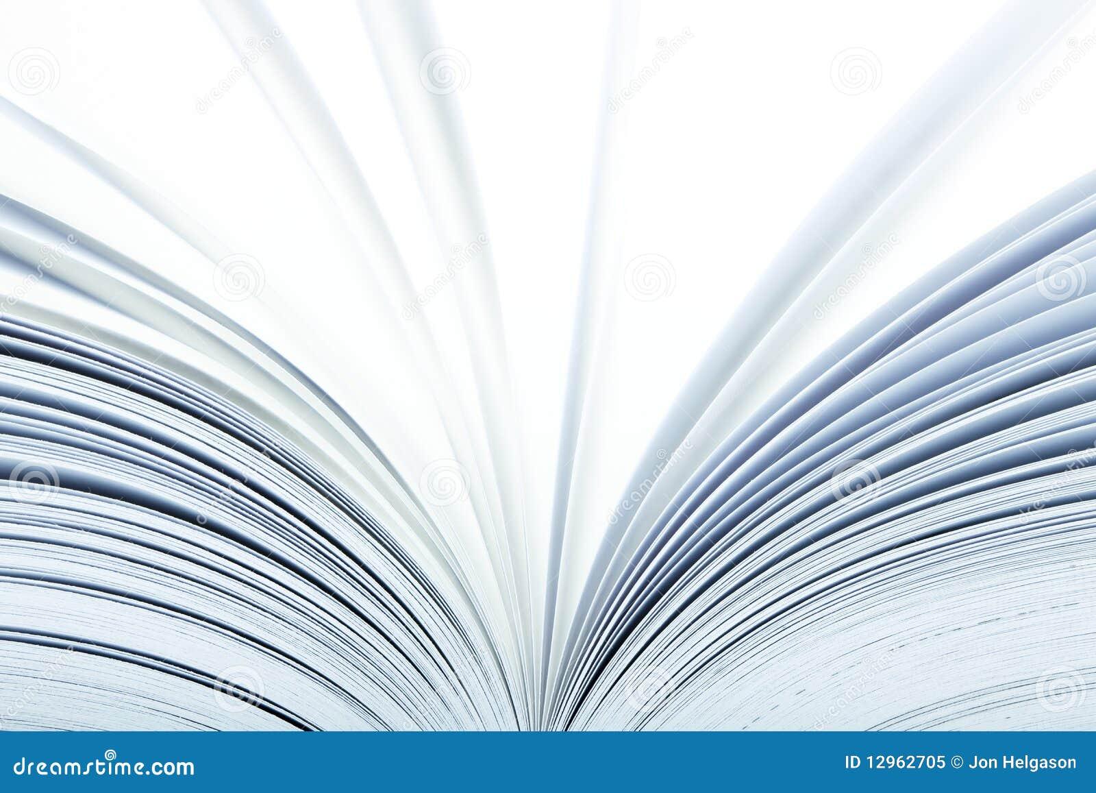 Feche acima de um livro aberto